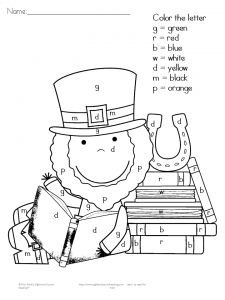 Free St. Patrick's Day sight word reading and writing