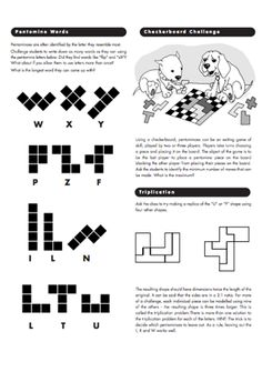 pentomino puzzles--worksheet generator with answers