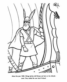 Eric the Red coloring page. Mystery of History Volume 2