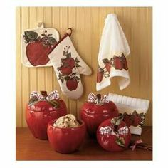 2Pc Apple Kitchen Decorative Corner Brackets Floral Country Farm