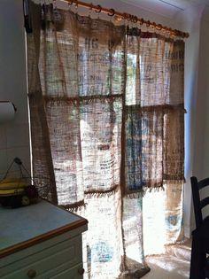 How To Make A Coffee Sack Curtain Sacks Bags And Coffee Bean Bags