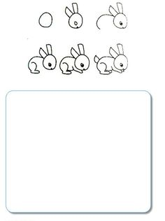 How to Draw Easter Bunny, Step by Step, Easter, Seasonal