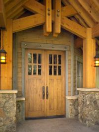 Sunset Entry Garage Door (Square Top Rail, 2-Panel Plank ...