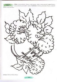 Vaso de flor para pintar. Desenhos para colorir. Risco de