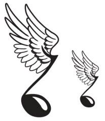 Wing music, Note and Wings on Pinterest