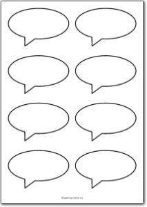 Printable speech bubbles/thought clouds... Though I find