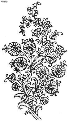 Indian Motifs Textile Pattern, Sarika Agarwal Butta