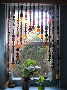 I've Been Planning To Make A Curtain Like This For Years Using Old