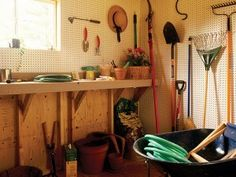 A Storage Shed That Is Very Tidy And Organized Things For My