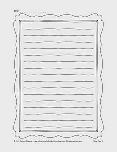 Bordered Iphone X Wallpaper Free Printable Notebook Paper Template Teacher Binder