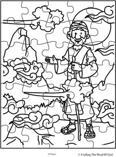 Elijah Fed By Ravens Coloring Page Sketch Coloring Page