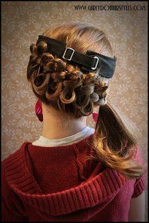 I'm Thinking Softball Hair Girly Dos By Jenn Visor Hat Hair