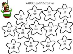 Addition and subtraction, Worksheets and Too cute on Pinterest