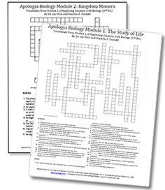 Genetics Vocabulary Crossword Puzzle (34 Key Terms