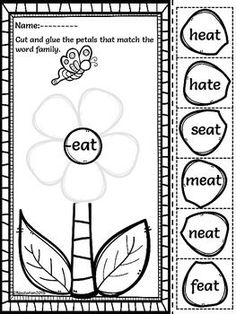 Cut and paste, Posts and Word families on Pinterest