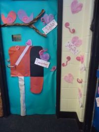 Community Helper/ Valentine's day Postman door decoration ...