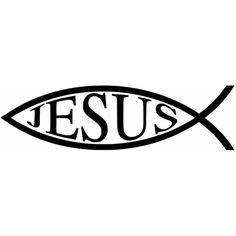 Jesus fish pattern. Use the printable outline for crafts