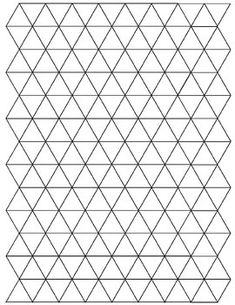 Graph paper with triangular grid allows you to graph along