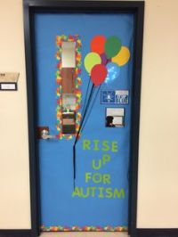 My classroom door for autism awareness month. I put my
