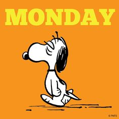 Image result for Snoopy its monday