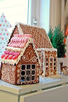 Cute Food For Kids? Gingerbread House Hello Kitty's Home