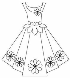 Paper dress template~have a girl that would love this
