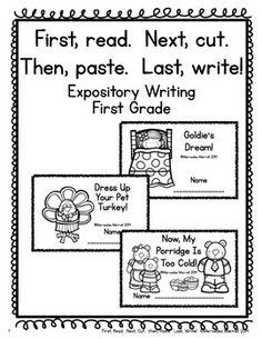 First, read. Next, cut. Then, paste. Last, Write