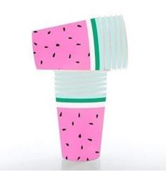 show details for watermelon paper cups pk