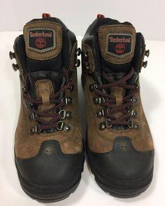 timberland womens hiking boots size m brown leather waterproof winter flex ebay