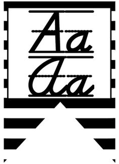 Cursive Alphabet Letters for classroom use- free