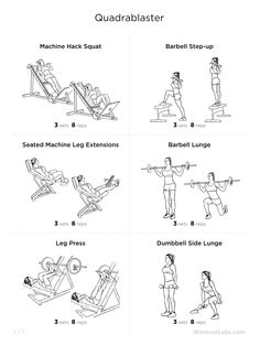 1000+ images about Quad Focused Workout. on Pinterest