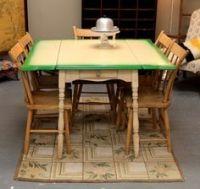 1930s Kitchen Table 'Porceliron' Enamel Steel & Chairs ...