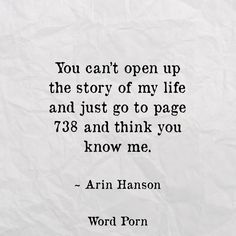 This is my life... my story... my book. I will no longer