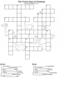 If you like Disney crossword puzzles, try this one! It