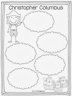 Christopher Columbus 3 Ships Coloring Page Christopher