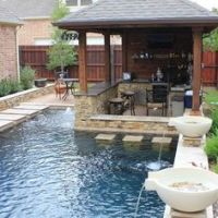 outdoor grill and bar design plans | Outdoor fieldstone ...