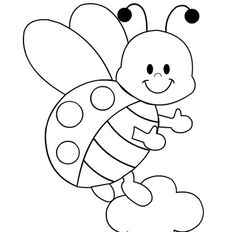 Ladybugs, Page template and Coloring pages on Pinterest
