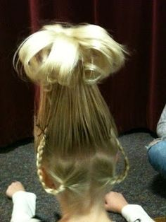 Cindy Lou Who Hair Costume Adventures Kleita Rēzijai