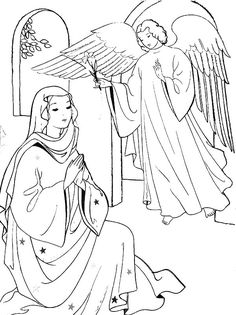 Mary Receives A Visit From The Angel Gabriel Jesus' Birth