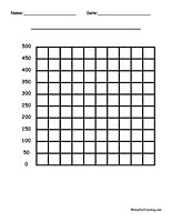10 By 10 Blank Graph Paper: Three different types of 10 by