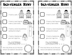 The box, Scavenger hunts and Activities on Pinterest