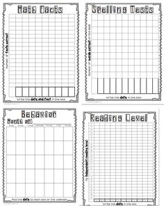 These free downloadable, printable data collection sheets