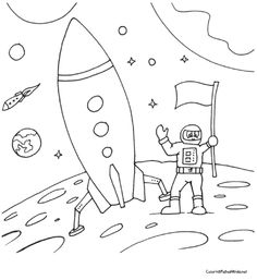 Neil armstrong, Coloring and Coloring pages on Pinterest