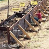 How to Build a Timber Retaining Wall | Landscaping ...