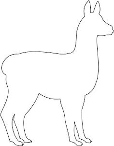 Alpaca pattern. Use the printable outline for crafts