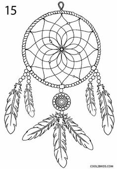 Coloring page, Dream Catcher, PDF ready to download