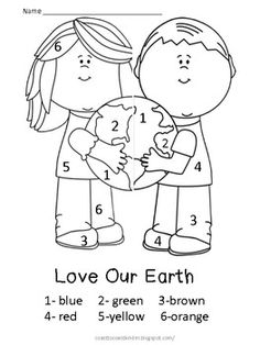Free! Earth Day Color by Number....3 free printables! Fun