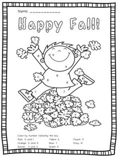 FREE #Columbus Day Fun: Missing Number Worksheet/Color by