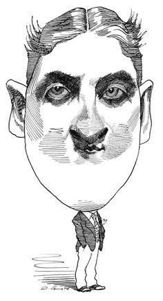 William Faulkner caricature (by David Levine, June 27
