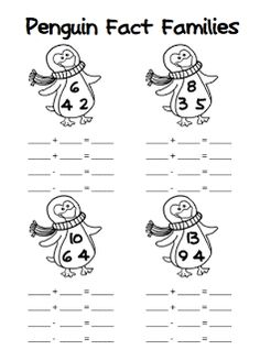 Learning fact families around Thanksgiving? Turkeys (and